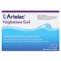 ARTELAC Nighttime Gel 3x10 Gramm - Vorderseite