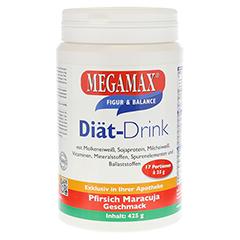 MEGAMAX Diät Drink Pfirsich Maracuja Pulver 425 Gramm