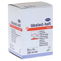 IDEALAST-haft color Binde 8 cmx4 m rot 1 Stück