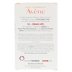 AVENE Tolerance Extreme Emulsion+Th. Spray 50ml Gratis 1 Packung - Rückseite