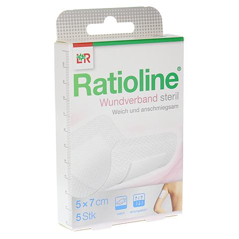 RATIOLINE Wundverband 5x7 cm steril 5 Stück