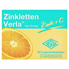 ZINKLETTEN Verla Orange Lutschtabletten 50 Stück - Vorderseite