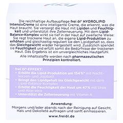 FREI ÖL Hydrolipid IntensivCreme 50 Milliliter - Rückseite