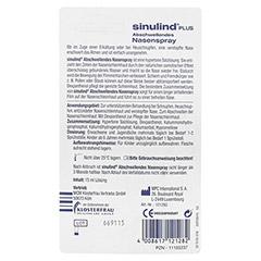 KLOSTERFRAU Sinulind abschwellendes Nasenspray 15 Milliliter - Rückseite