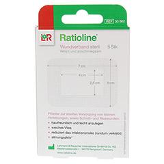 RATIOLINE Wundverband 5x7 cm steril 5 Stück - Rückseite
