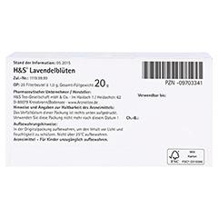H&S Lavendelblüten 20x1.0 Gramm - Unterseite
