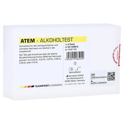 CLEARTEST Atem-Alkoholtest 5 Stück