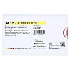 CLEARTEST Atem-Alkoholtest 5 Stück - Vorderseite