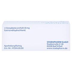Cetirizin STADA 10mg 50 Stück N2 - Oberseite