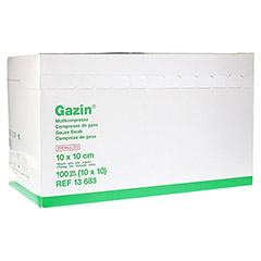 GAZIN Mullkomp.10x10cm steril 16fach 10x10 Stück