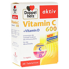 DOPPELHERZ Vitamin C 600+Vitamin D Tabletten 40 Stück