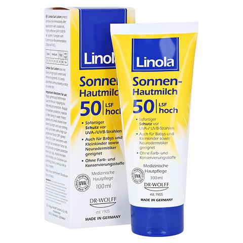 Linola Sonnen-hautmilch LSF 50 100 Milliliter