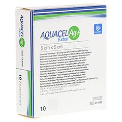 AQUACEL Ag+ Extra 5x5 cm Kompressen 10 Stück