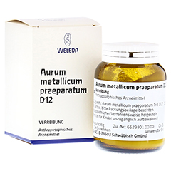 AURUM METALLICUM PRAEPARATUM D 12 Trituration 50 Gramm N2