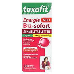 TAXOFIT Energie B12-sofort Schmelztabletten 30 Stück - Vorderseite