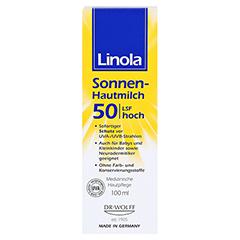 LINOLA Sonnen-Hautmilch LSF 50 100 Milliliter - Vorderseite