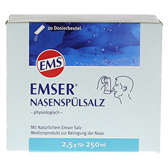 EMSER Nasenspülsalz physiologisch Btl. 20 Stück - Vorderseite