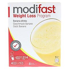 MODIFAST Programm Drink Banane Pulver 8x55 Gramm - Vorderseite