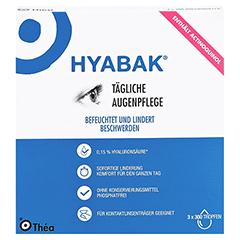 Hyabak Augentropfen 3x10 Milliliter - Vorderseite