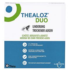 THEALOZ Duo Augentropfen 3x10 Milliliter - Vorderseite