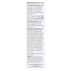 Linola Sonnen-hautmilch LSF 50 100 Milliliter - Linke Seite