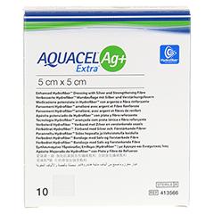 AQUACEL Ag+ Extra 5x5 cm Kompressen 10 Stück - Vorderseite
