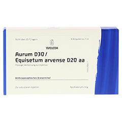 AURUM D 30/Equisetum arvense D 20 aa Ampullen 8x1 Milliliter N1 - Vorderseite