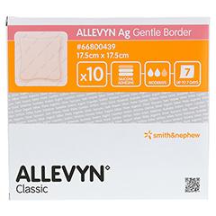 ALLEVYN Ag Gentle Border 17,5x17,5 cm Wundverband 10 Stück - Vorderseite