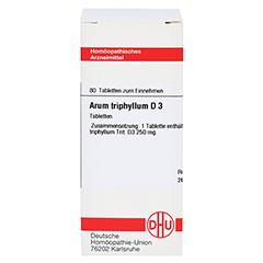 ARUM TRIPHYLLUM D 3 Tabletten 80 Stück N1 - Vorderseite