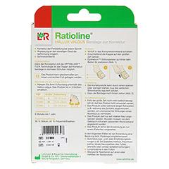 RATIOLINE Hallux valgus Bandage zur Korrektur Gr.M 1 Stück - Rückseite
