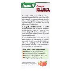 TAXOFIT Energie B12-sofort Schmelztabletten 30 Stück - Rückseite