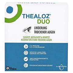 THEALOZ Duo Augentropfen 3x10 Milliliter - Rückseite
