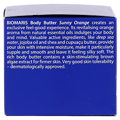 BIOMARIS body butter sunny orange 200 Milliliter - Linke Seite