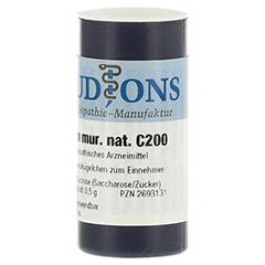 AURUM MURIATICUM NATRONATUM C 200 Einzeldosis Gl. 0.5 Gramm N1 - Linke Seite
