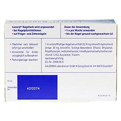Loceryl Nagellack gegen Nagelpilz 2.5 Milliliter N1 - Rückseite