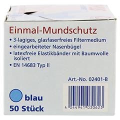 OP-MUNDSCHUTZ blau 50 Stück - Rechte Seite