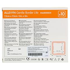 ALLEVYN Gentle Border Lite 7,5x7,5 cm Schaumverb. 10 Stück - Rückseite