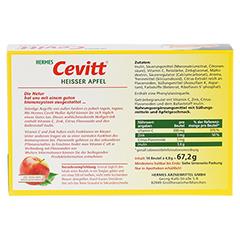 HERMES Cevitt heißer Apfel Granulat 14 Stück - Rückseite
