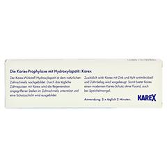 Karex Zahnpasta 75 Milliliter - Rückseite