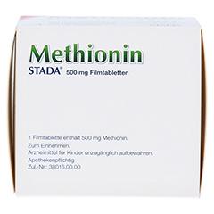 METHIONIN STADA 500 mg Filmtabletten 100 Stück N3 - Rückseite
