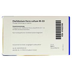 CHELIDONIUM FERRO CULTUM Rh D 3 Ampullen 8x1 Milliliter N1 - Rückseite