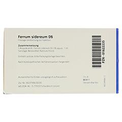 FERRUM SIDEREUM D 6 Ampullen 8x1 Milliliter N1 - Rückseite