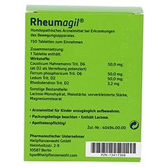 RHEUMAGIL Tabletten 150 Stück - Rückseite