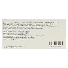 AURUM/BELLADONNA comp.Ampullen 10x1 Milliliter N1 - Rückseite