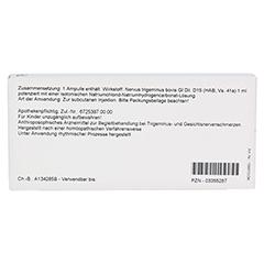 NERVUS TRIGEMINUS GL D 15 Ampullen 10x1 Milliliter N1 - Rückseite