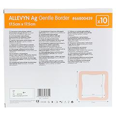 ALLEVYN Ag Gentle Border 17,5x17,5 cm Wundverband 10 Stück - Rückseite