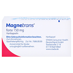Magnetrans forte 150mg 50 Stück N2 - Oberseite