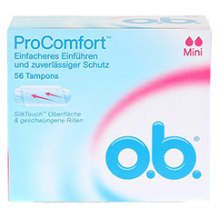 O.B. Tampons ProComfort mini 56 Stück - Vorderseite