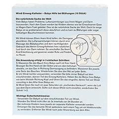 WINDI Babys Blähungshilfe Katheter 10 Stück - Rückseite