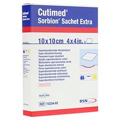 SORBION Cutimed Sachet Extra Wundaufl.10x10 cm 5 Stück